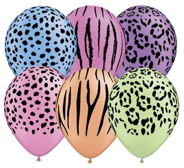 "11"" Nature Printed Latex (Assorted colors)"