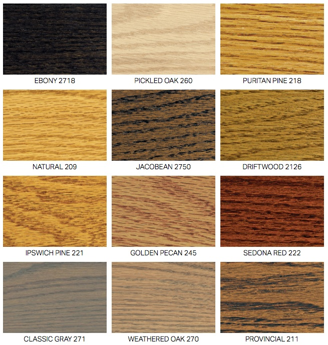 Describes Our Standard Finishes And Sample Minwax Stain Samples You