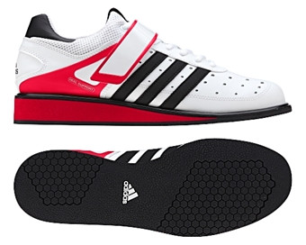 Adidas Power Perfect II White/Blk/Red  www.battleboxuk.com