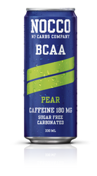 NOCCO Pear BCAA Drink with Caffeine (Pack of 6,12 or 24 cans)  - www.BattleBoxUK.com