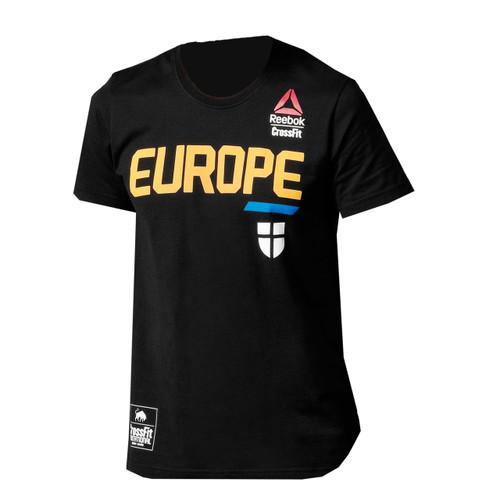 Reebok crossfit invitational 2015 team europe tee battle for Reebok crossfit t shirts