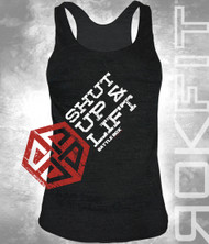 "BattleBox and RokFit ""Shut Up & Lift"" Motivation Women T-Shirt"