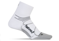Features Elite Ultra Light Quarter Socks White
