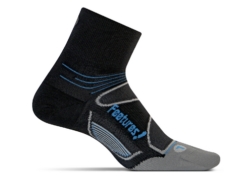 Features Elite Ultra Light Quarter Socks Black
