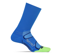 Features Elite Light Cushion Mini Crew Socks Brilliant Blue crossfit running