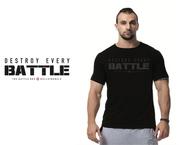 "Battle Box & Bells Rebels ""DESTROY EVERY BATTLE "" crossfit open motivating tee"