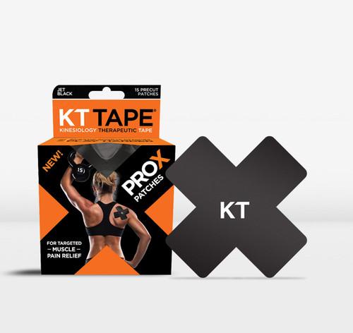 KT TAPE PRO X SYNTHETIC 15 PATCHES JET BLACK www.battleboxuk.com