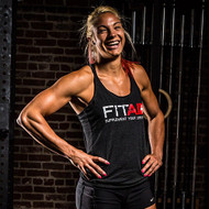 LADIES FITAID BLACK TRI-BLEND TANK TOP Tri-Blend Tank www.battleboxuk.com