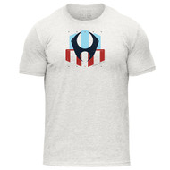 HYLETE nation tri-blend crew tee vintage white/usa www.battleboxuk.com