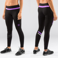 Virus Women's Stay Cool Lunar Running Tech Pants (Eco19) Black/Purple www.battleboxuk.com