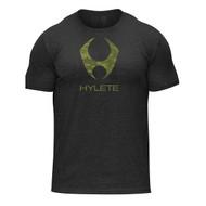 Hylete tri-blend crew tee (black/green camo) www.battleboxuk.com