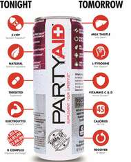 PARTYAID® Feel good tonight & tomorrow LIFEAID® (Pack of 6, 12 or 24 cans) - www.BattleBoxUk.com