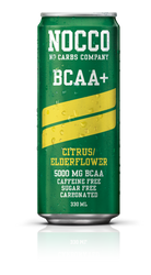 NOCCO Citrus Elderflower BCAA+ Drink non Caffeine (Pack of 6,12 or 24 cans)-  www.BattleBoxUk.com