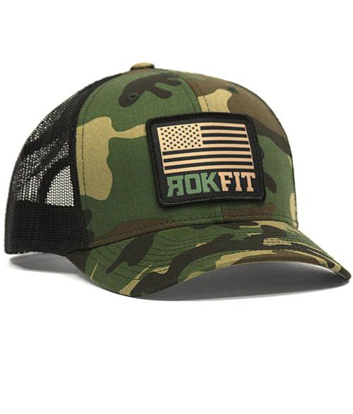 ROKFIT AMERICAN FLAG CAMO SNAPBACK HAT www.battleboxuk.com