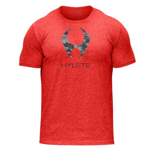 Hylete camo tri-blend crew tee (vintage red/black camo) www.battleboxuk.com