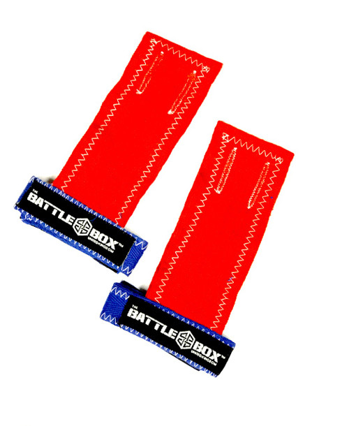 BattleBoxUK Gymnastic Grips Red Blue  - www.BattleBoxUk.com