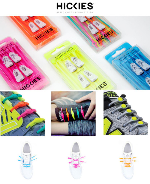 HICKIES 14 Elastic Trainer Lacing Replacement System No More Shoe Laces  - www.BattleBoxUk.com