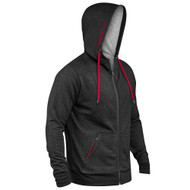 Hylete Linear Tech Hoodie black/cherry www.battleboxuk.com