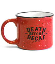 RokFit Death Before Decaf Coffee Mug Red www.battleboxuk.com
