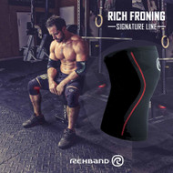 Rehband RX Knee Support 7mm Froning Signature Black Red - www.BattleBoxUk.com