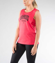 VIRUS WOMEN'S KNIGHT PREMIUM SCOOP NECK TANK RED (WPC17) WWW.BATTLEBOXUK.COM