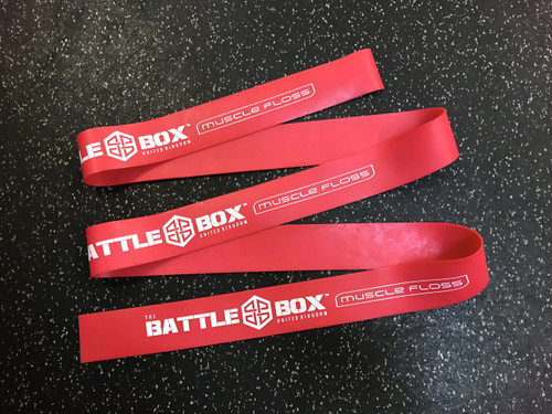 "BattleBox UK™ 2"" Muscle Floss Mobility Band X-Heavy Red 7ft - www.BattleBoxUk.com"