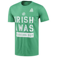 "Reebok CrossFit ""IRISH I WAS WORKING OUT"" Tee ww.battleboxuk.com"