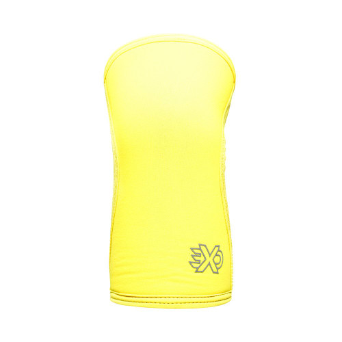 EXO SLEEVES SUNNIE YELLOW- 5MM KNEE SLEEVES Knee Caps Support (PAIR) - www.BattleBoxUk.com