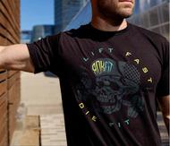 ROKFIT LIFT FAST, DIE FIT T-shirt www.battleboxuk.com