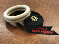 BattleBox UK Wooden Gymnastic Olympic Gym Rings 32mm Diameter  - www.BattleBoxUk.com