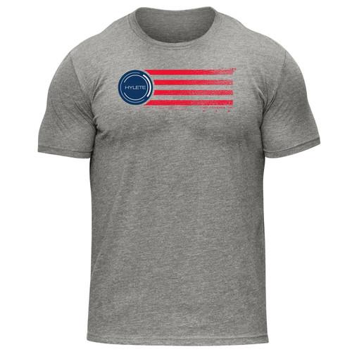 Hylete USA tri-blend crew tee | heather gray/usa www.battleboxuk.com