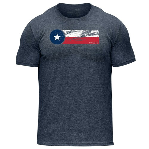 Hylete Texas II tri-blend crew tee | vintage navy/texas www.battleboxuk.com