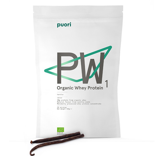 Puori PW1 Bourbon Vanilla Organic Whey Protein 900g www.battleboxuk.com
