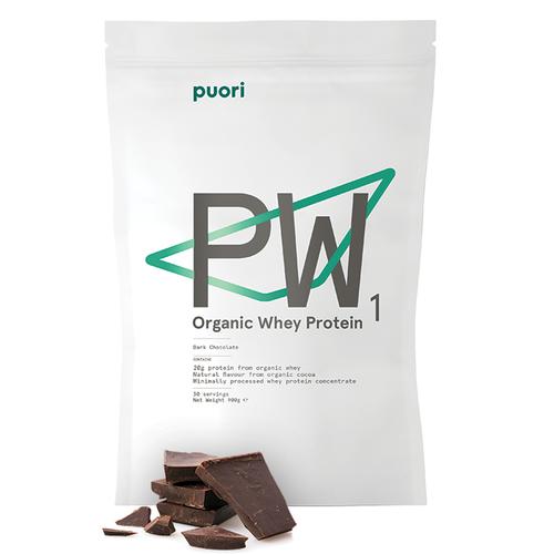 Puori PW1 Dark Chocolate  Organic Whey Protein 900g www.battleboxuk.com