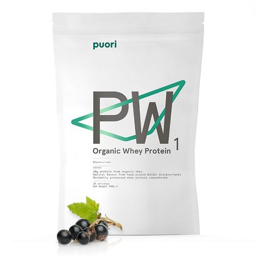Puori PW1 Nordic Blackcurrant Organic Whey Protein 900g www.battleboxuk.com