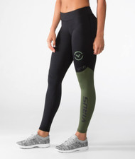 VIRUS WOMEN'S STAY COOL V2 COMPRESSION PANT (ECO21) OLIVE GREEN WWW.BATTLEBOXUK.COM