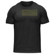 Hylete Fundamentals II Tri-Blend Crew Tee vintage black/army www.battleboxuk.com