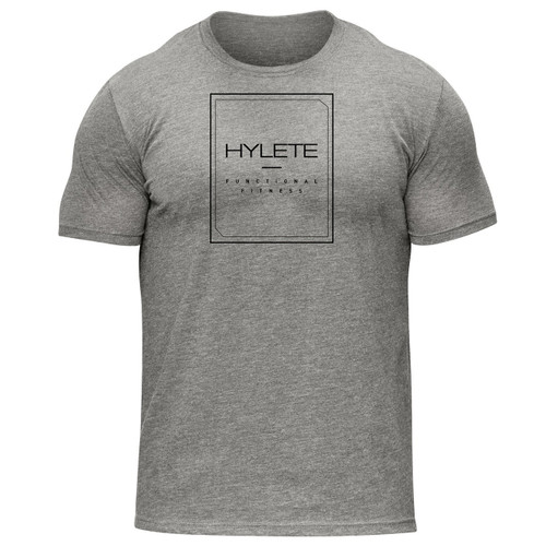 HYLETE functional II tri-blend crew tee heather gray/black www.battleboxuk.com