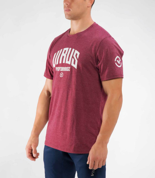 VIRUS KNIGHT PREMIUM TEE (PC30) Heather Maroon WWW.BATTLEBOXUK.COM