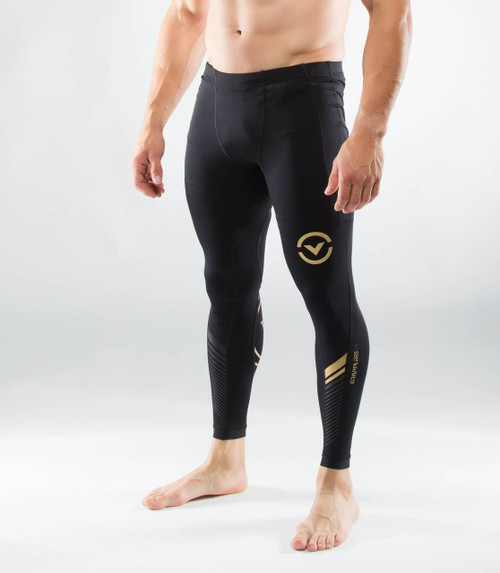 VIRUS MEN'S BIOCERAMIC™ GRAPPLING COMPRESSION SPATS (AU19)- BLACK/GOLD WWW.BATTLEBOXUK.COM