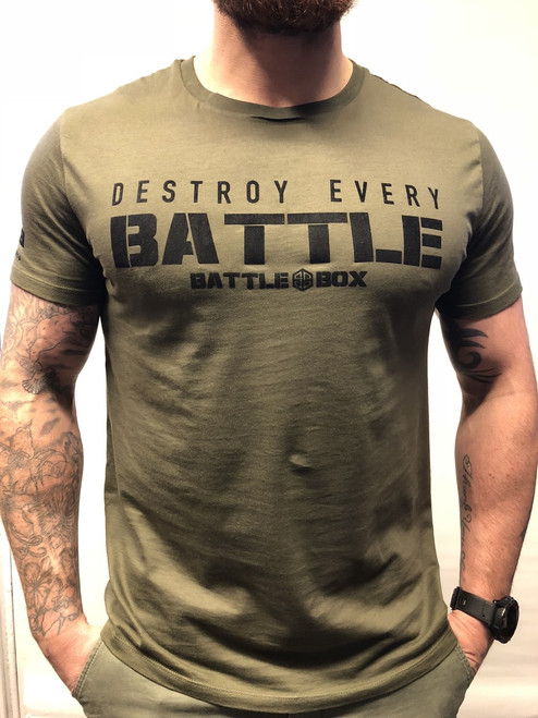 "BattleBox UK™ ""DESTROY EVERY BATTLE"" ARMY GREEN"
