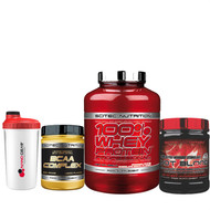 Scitec Nutrition General Stack 100% Whey Protein BCAA Complex Hot Blood Pre-Workout