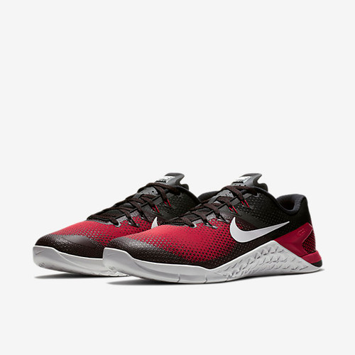 NIKE METCON 4 MEN'S TRAINING SHOE Black/Hyper Crimson/Habanero Red/Vast Grey