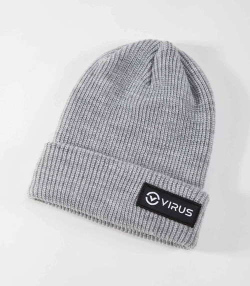 VIRUS LYNX RIBBED CUFF KNIT BEANIE- GREY WWW.BATTLEBOXUK.COM