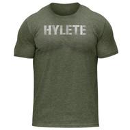 Hylete Vellum Tri-Blend Crew Tee | vintage olive/white