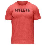 Hylete Vellum Tri-Blend Crew Tee | vintage red/black