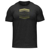 Hylete Chevron tri-blend crew tee | vintage black/olive