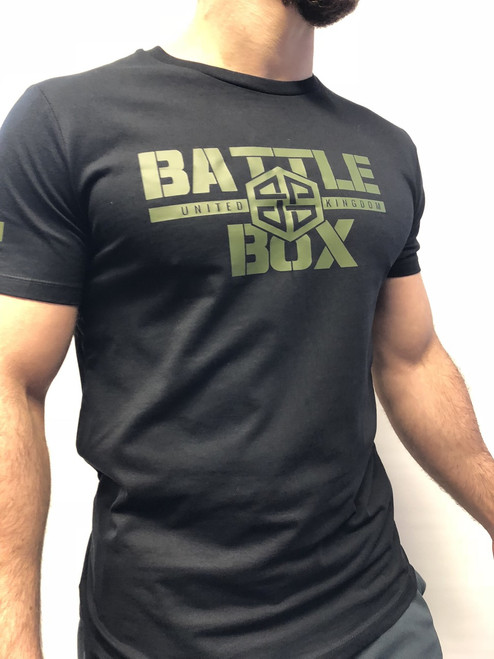 BattleBox UK™ WOD TAINING TEE | ARMY | BLACK