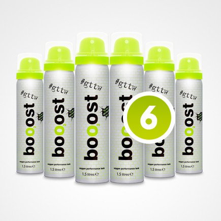 CrossTrainingUK - Booost 99% Pure oxygen with peppermint flavouring 10L 100 shots (Pack of 6)