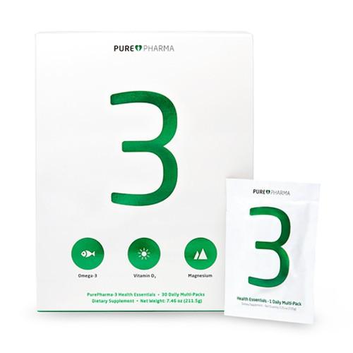 PurePharma 3 Daily Pack 3 x O3 - 3 x M3 - 1 x D3 All You Really Need Pure Pharma - www.BattleBoxUk.com